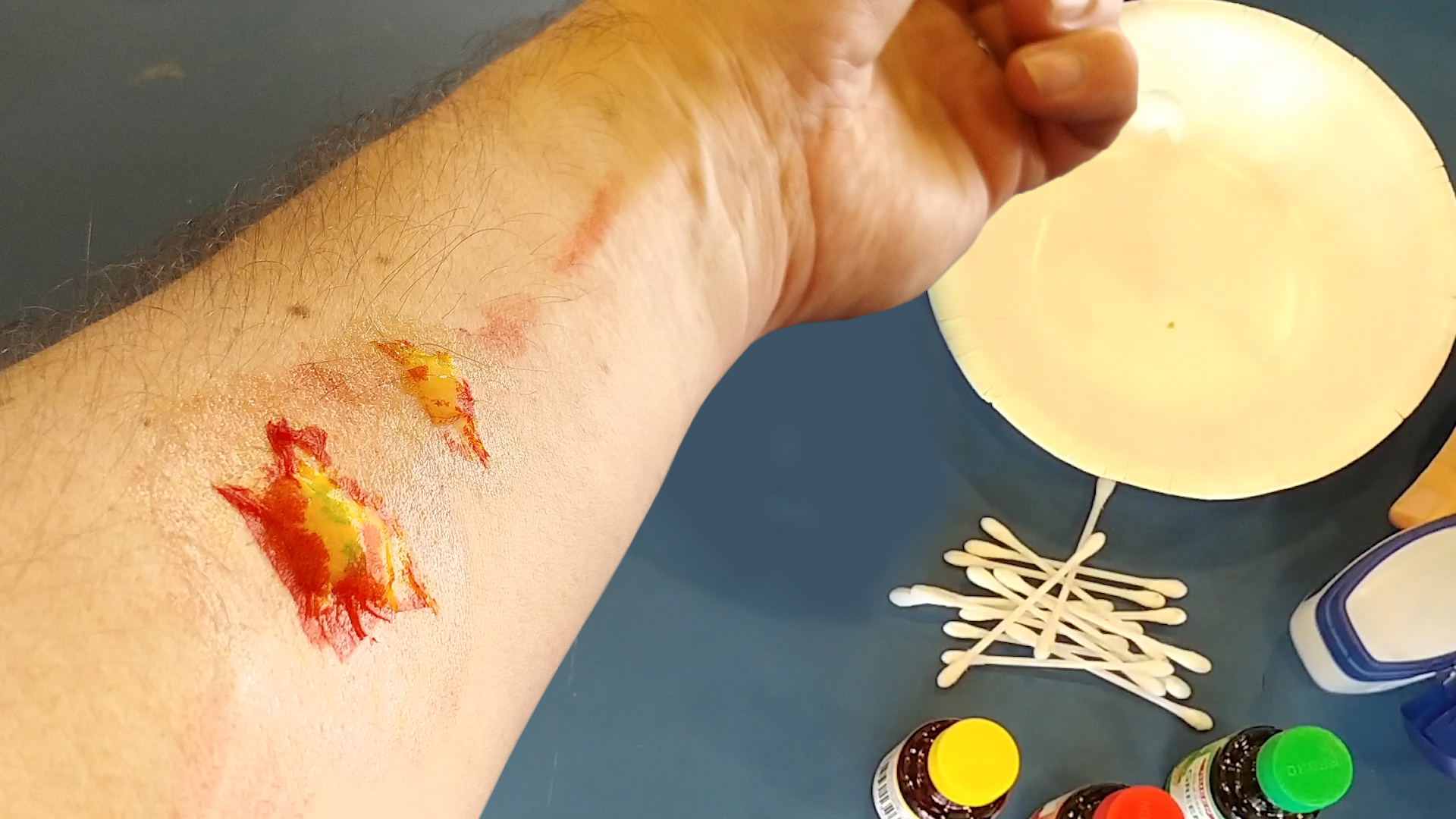 Fake special effects wound make-up