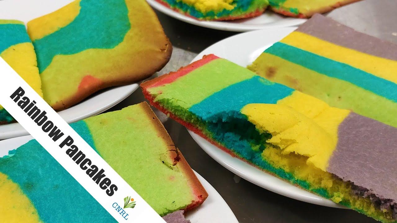 Rainbow Oven Pancakes